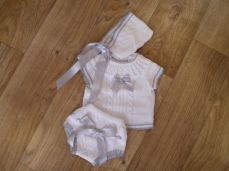 Summer Knitted Three Piece Baby Set