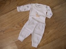 Chamomile Baby Giraffe Embroidered Bodysuit & Trousers