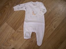 Chamomile Baby Giraffe Embroidered Sleepsuit