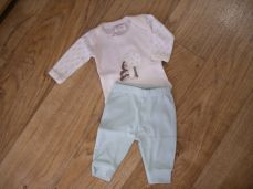 Chamomile Baby Hedgehog & Apple Embroidered Bodysuit & Trouser