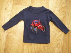 Seesaw Long Sleeved T-shirt Navy Red Tractor