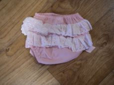 Petit Bebe Pink Frilly Knickers 18562