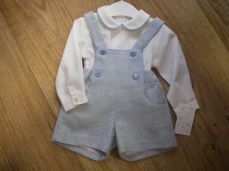 Baby Boys Spanish Winter Short Dungaree & Shirt Set MD470