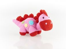 Best Years Pebble Cotton Crochet Pink Steggi Rattle