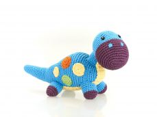 Best Years Pebble Cotton Crochet Blue Dippi Rattle