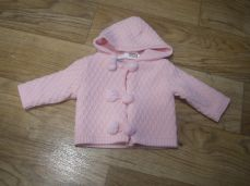 Pex Unity Knitted Hooded Pom-pom Jacket Pink