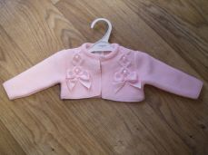 Baby Knitted Pink Belero Cardigan 3580