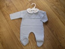 Baby Boys Knitted Blue Babygrower 18/124