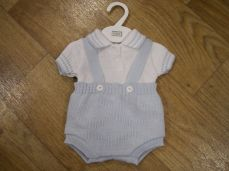 Pex Billy Cotton Knitted Summer Dungaree Set