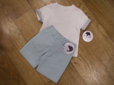 Sarah Louise Boys T-shirt And Short Set Mint 011542