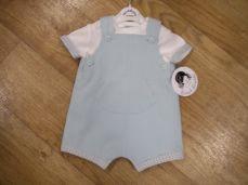 Sarah Louise Boys Summer Dungaree Set In Mint 011539
