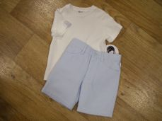 Sarah Louise Boys T-shirt And Short Set Blue 011542