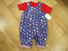 Seesaw Reversible Ocean Dungaree Set