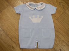 Sardon Summer Boys Knitted Crown Romper