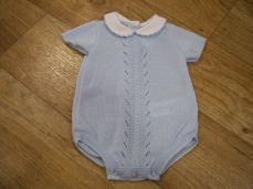 Sardon Summer Boys Knitted Romper Pale Blue