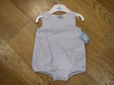 Sardon Summer Boys Pale Blue & White Stripe Romper