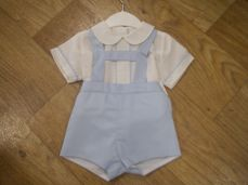 Boys Spanish Style Summer H-bar Dungaree Set 1918