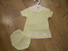 Girls Spanish Style Summer Knit Lemon Dress With Pants 75