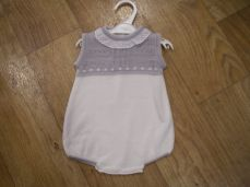 Girls Spanish Style Summer Knit Romper Grey 76