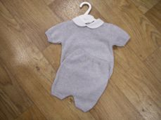 Boys Spanish Style Knitted Summer Two Piece Grey 43