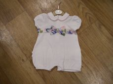 Mintini Baby Girls Summer Bow Romper MB2309