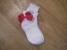 Pex Jasmine Ankle Sock Red Bow
