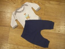Chamomile Baby Fox On A Bike Bodysuit & Trousers