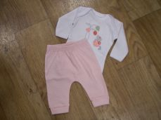 Chamomile Baby Flower Mouse Bodysuit & Trousers