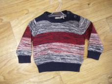 Losan Boys Red And Navy Jumper