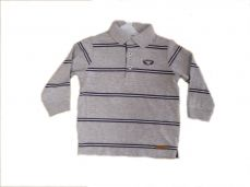 Losan Boys Long Sleeved Polo Grey