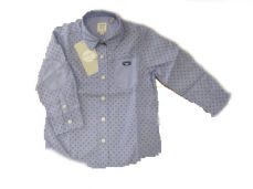 Losan Boys Pale Blue Patterned Shirt