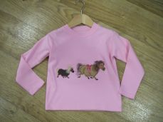 Seesaw Long Sleeved Light Pink T-Shirt Ponies