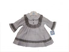 Sardon Winter Girls Blue Check Dress