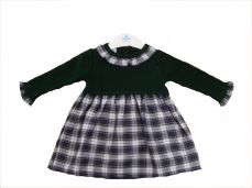 Sardon Winter Girls Dress Green Check