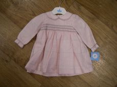 Sardon Winter Girls Pink Check Dress