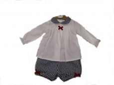 Mintini Baby Girls Winter Top & Short Set MB3081