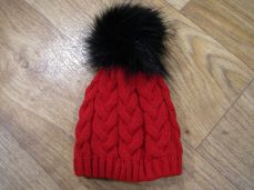 Pex Phoebe Knitted Hat Red And Black
