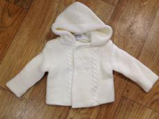 Pex Knitted Hooded Jacket Ivory