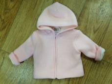 Pex Zip Up Knitted Jacket Pink