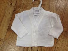 Pex White Enda Girls Cardigan