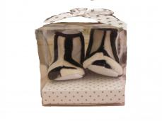 PitterPatter Boxed Zebra Fur Booties