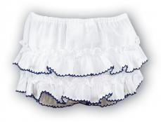 Sarah Louise White & Navy Frillies 003762P