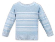 Sarah Louise Boys Summer Sweater Mint And White 011544