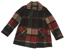 Little Lord & Lady Emmaline Checked Wool Coat