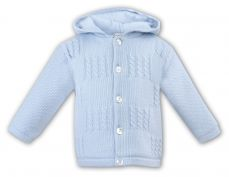 Sarah Louise Boys Knitted Jacket With Hood 008040