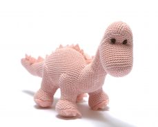 Best Years Organic Pink Diplodocus Knitted Rattle