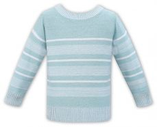 Sarah Louise Boys Summer Sweater Pale Blue And White 011544