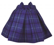 Little Lord & Lady Sophie Blue Tartan Full Skirt