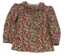 Little Lord & Lady Betsy Vintage Floral Collared Blouse
