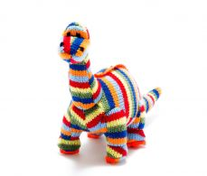 Best Years Knitted Stripe Diplodocus Rattle